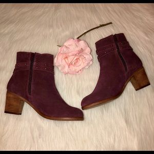 Matisse Maroon Leather Boots in Size-7.5